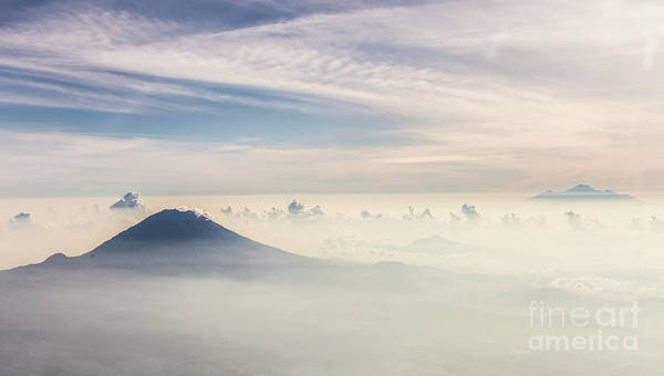 Photograph - Aerial Panorama Of The Mt Agung In Bali by Didier Marti