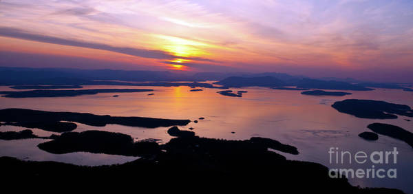 Wall Art - Photograph - Aerial San Juan Islands Sunset Tranquility by Mike Reid