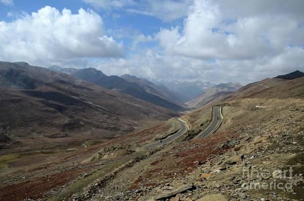 Aerial Shot Of Mountainous Karakoram Highway Babusar Pass Pakistan Art Print