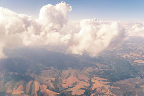 Strange Land Wall Art - Photograph - Aerial - Strange Cloud Creature by Georgia Mizuleva