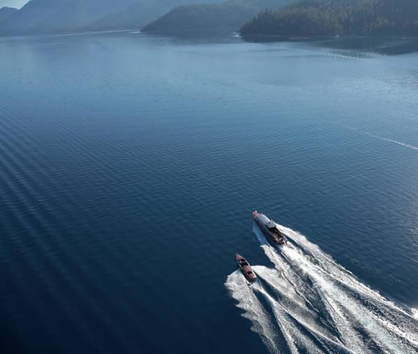 Photograph - Aerial Thunderbird Yacht by Steven Lapkin