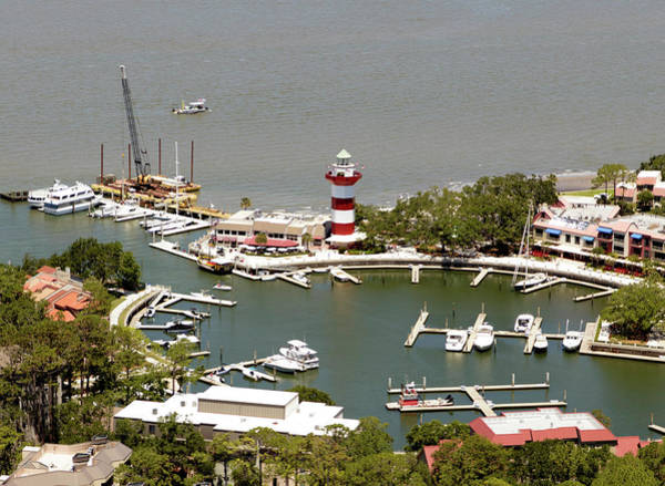 Photograph - Aerial View Harbour Town Lighthouse In Hilton Head Island by Carol Highsmith