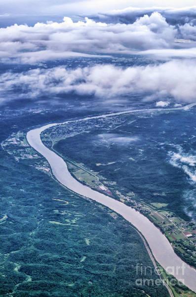 Photograph - Aerial View Kanawha River by Thomas R Fletcher