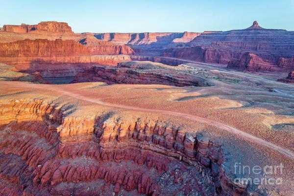 Photograph - aerial view of Colorado RIver canyon by Marek Uliasz
