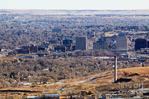 Photograph - Aerial View Of Colorado Springs by Steve Krull
