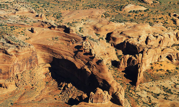 Photograph - Aerial View Of Delicate Arch by Jean Clark