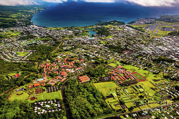 Photograph - Aerial View Of Hilo, Hawaii by M G Whittingham