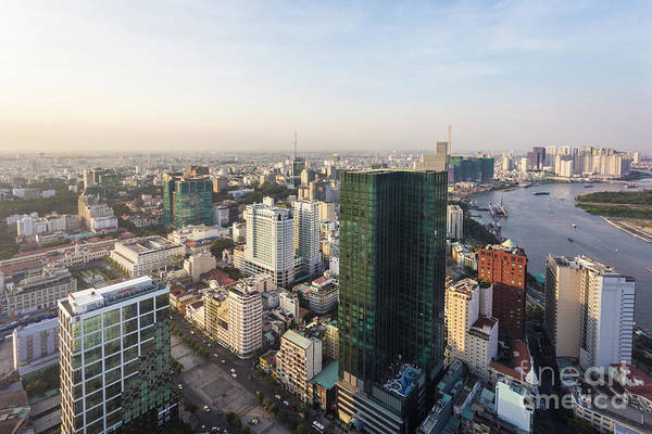 Photograph - Aerial View Of Ho Chi Minh City In Vietnam by Didier Marti