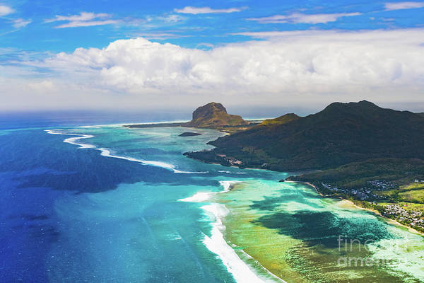 Wall Art - Photograph - Aerial View Of Le Morn Brabantl. Mauritius by MotHaiBaPhoto Prints