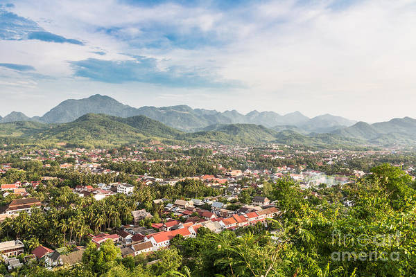 Photograph - Aerial View Of Luang Prabang In Laos by Didier Marti