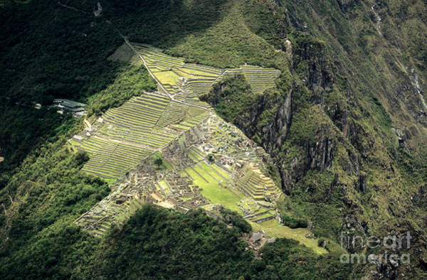 Photograph - Aerial View Of Machu Picchu by James Brunker