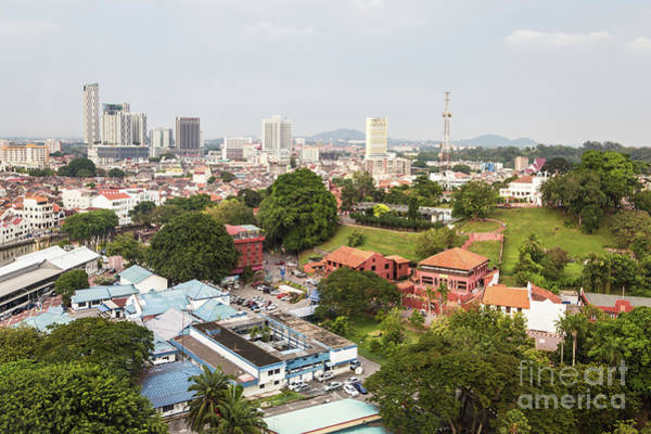 Photograph - Aerial View Of Malacca In Malaysia by Didier Marti