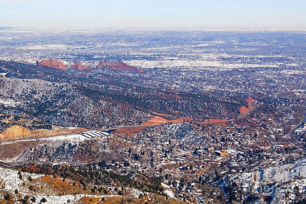 Photograph - Aerial View Of Manitou And Colorado Springs by Steve Krull