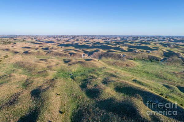 Photograph - aerial view of Nebraska Sand Hills  by Marek Uliasz