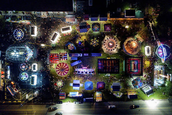 Norco Photograph - Aerial View Of Norco Fair - Pottstown Pa by Don Valentine