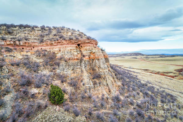 Photograph - aerial view of northern Colorado foothills  by Marek Uliasz