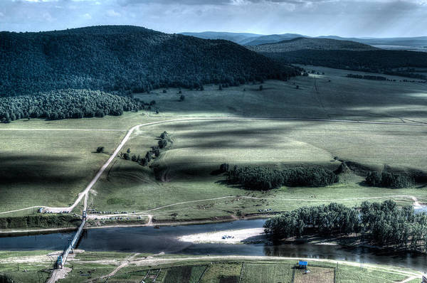 Photograph - Aerial View Of Rolling Russian Hills by John Williams
