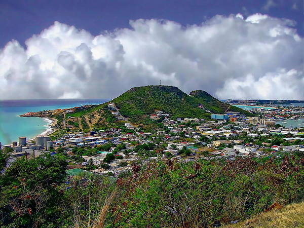 Photograph - Aerial View Of St. Thomas by Anthony Dezenzio