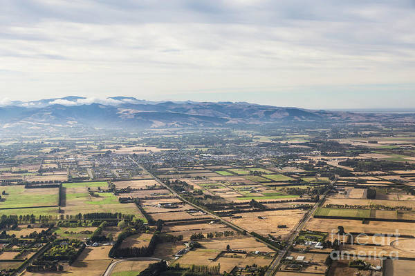 Photograph - Aerial View Of The Countryside Around Christchurch In New Zealan by Didier Marti