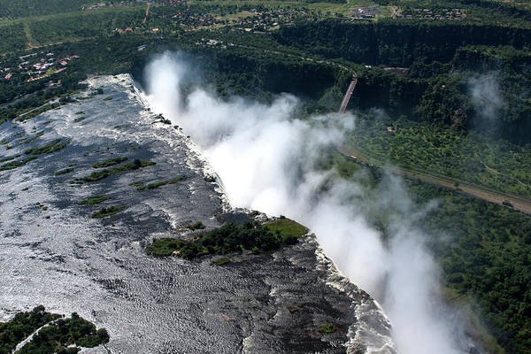 Photograph - Aerial View Of Victoria Falls by Aidan Moran