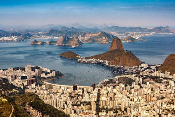 Photograph - Aerial View Over Rio De Janeiro by Mihai Andritoiu