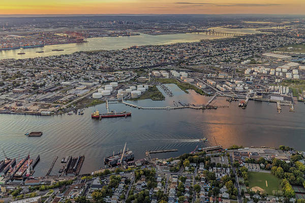 Photograph - Aerial View Port Of Ny And Nj L by Susan Candelario