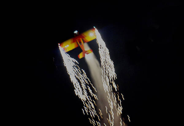Bahrain Photograph - Aerobatics With Firework by Art Spectrum