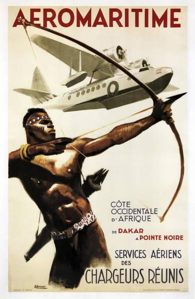 Dakar Photograph - Aeromaritime To Africa Vintage Travel 1950 by Daniel Hagerman