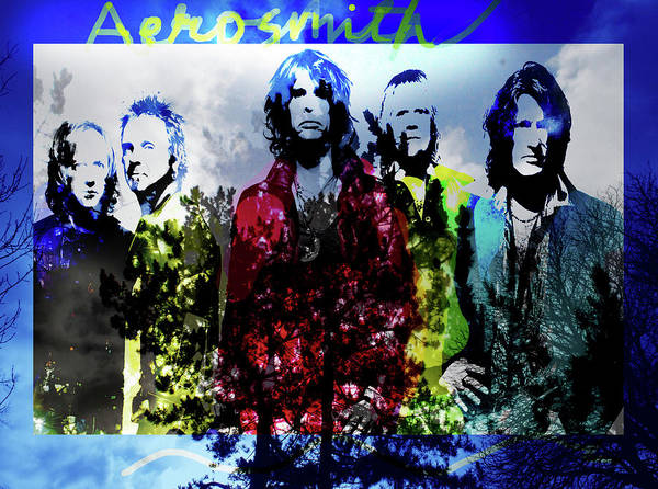 Blue Oyster Cult Wall Art - Mixed Media - Aerosmith  by Enki Art
