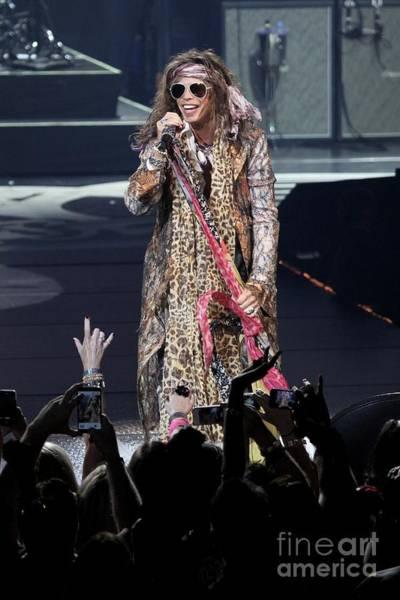 Steven Tyler Photograph - Aerosmith Singer Steven Tyler by Concert Photos
