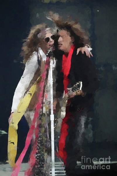 Steven Tyler Photograph - Tyler And Perry Oil Painting Enlargements by Concert Photos