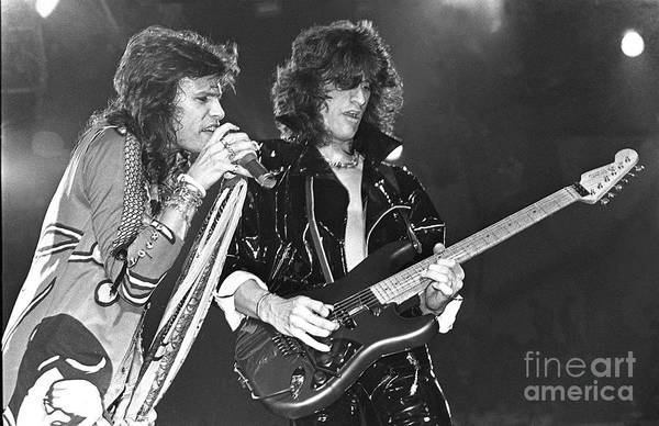 Steven Tyler Photograph - Aerosmith Tyler And Perry by Concert Photos