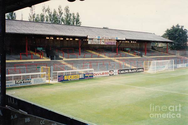 Wall Art - Photograph - Afc Bournemouth - Dean Court - Sw Goal Terrace 1 - September 1990 by Legendary Football Grounds