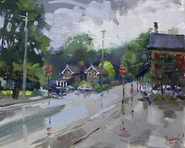 Ontario Wall Art - Painting - Afetr Rain At Glen Williams On by Ylli Haruni
