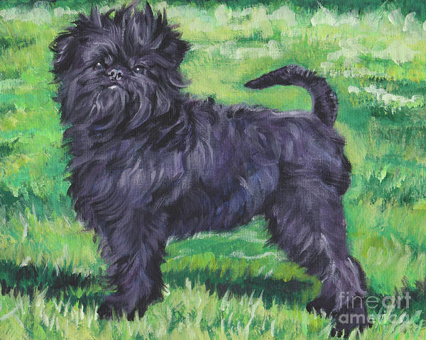 Wall Art - Painting - Affenpinscher by Lee Ann Shepard