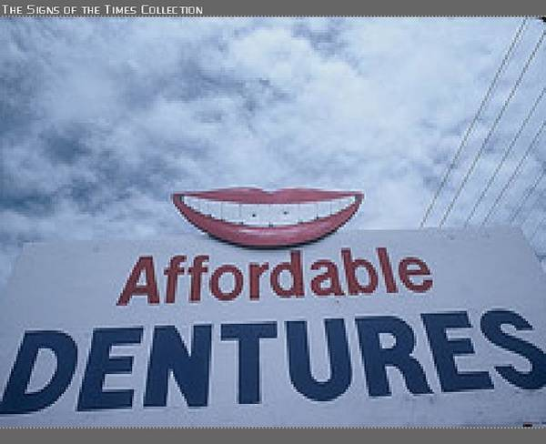 Visual Language Photograph - Affordable Dentures by Billy Tucker