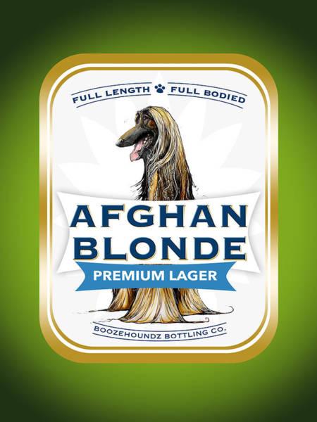 Afghan Blonde Premium Lager Art Print