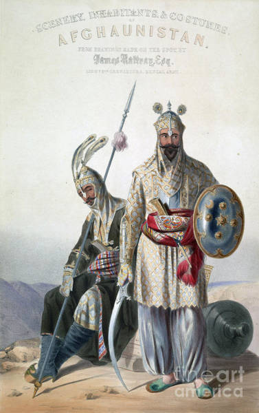 Painting - Afghan Royal Soldiers Of The Durrani Empire by Celestial Images