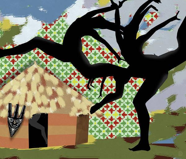 Tribal Dance Digital Art - Afreaka by Darwin Stead