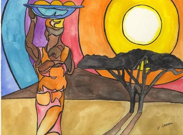 Digital Art - Africa Women by Darren Cannell