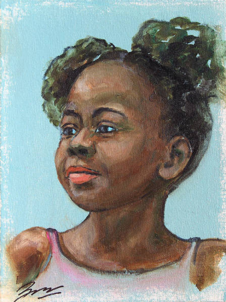 Painting - African American 10 by Xueling Zou