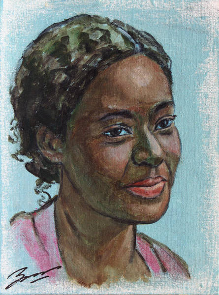 Painting - African American 11 by Xueling Zou