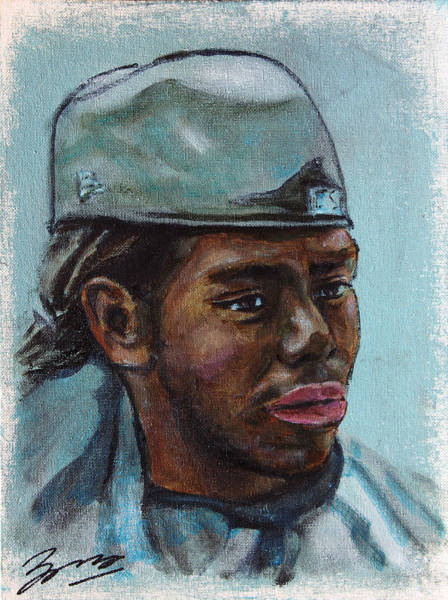 Painting - African American 13 by Xueling Zou