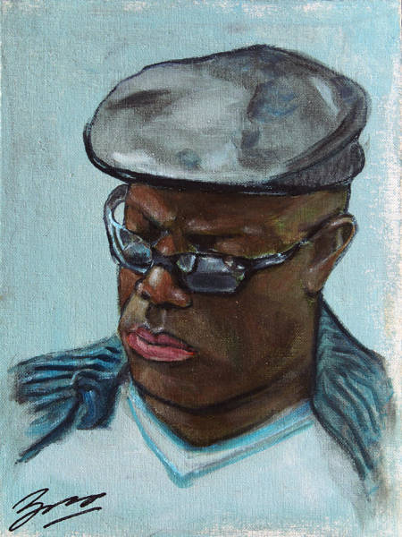 Painting - African American 14 by Xueling Zou