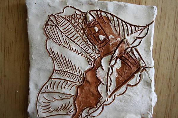 Ceramic Art - African Angel - Tile by Gloria Ssali