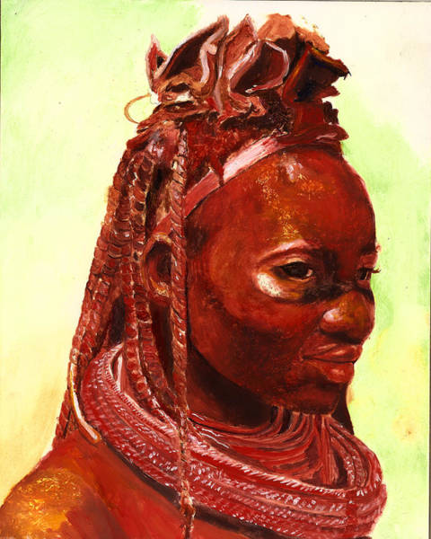 Wall Art - Painting - African Beauty by Portraits By NC
