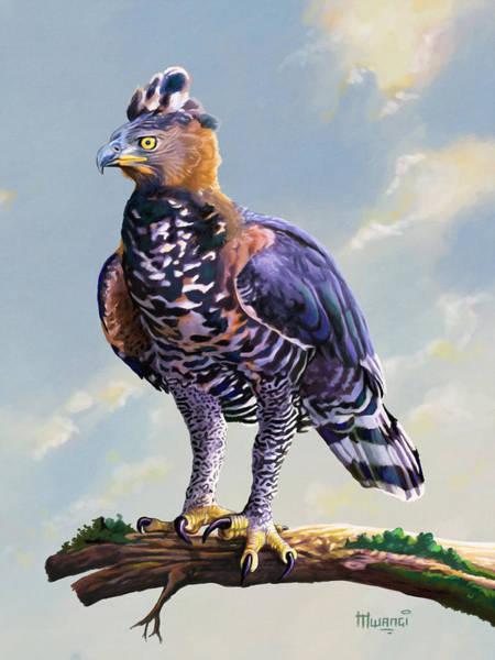 Uganda Painting - African Crowned Eagle  by Anthony Mwangi