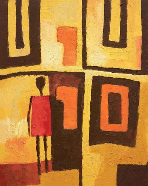 Abstract People Painting - African Decor by Lutz Baar