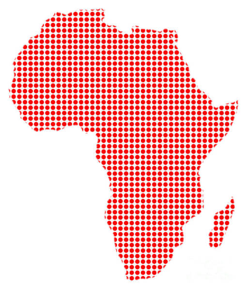 Perforations Digital Art - African Dot Map by Bigalbaloo Stock