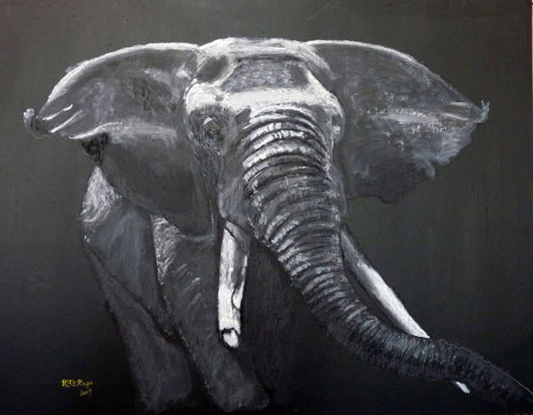 Painting - African Elephant by Richard Le Page